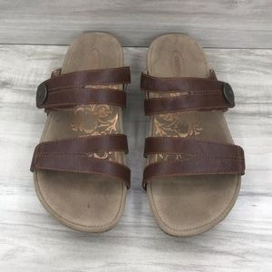 Aetrex brown comfort sandals size 6.5
